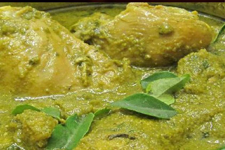 Green Chicken Salan